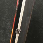 Vintage Electric Guitar Case - Hot Rod Flames - back vertical - reforgedguitars.com