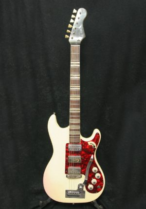 Hofner Galaxie white vinyl body front